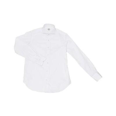 (ジャンネット)GIANNETTO 長袖ドレスシャツ メンズ ストレッチシャツ ホワイト 正規取扱店 41サイズ(L相当)