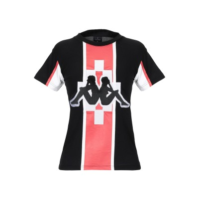 MARCELO BURLON x KAPPA T シャツ ブラック XXS コットン 100% / ポリエステル T シャツ