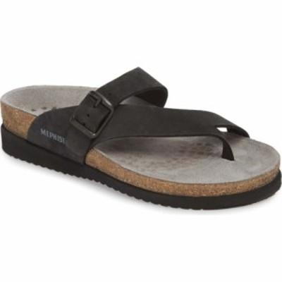 メフィスト MEPHISTO レディース サンダル・ミュール シューズ・靴 Helen Sandal Black Nubuck