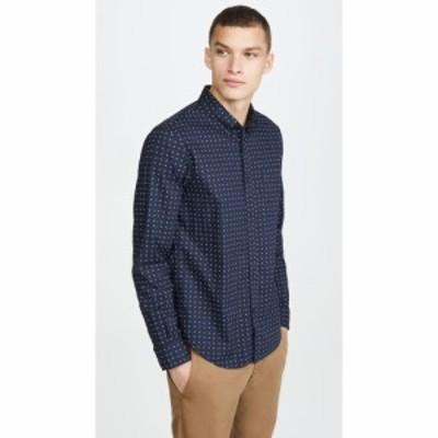 クラブ モナコ Club Monaco メンズ シャツ トップス Slim Geo Ditsy Long Sleeve Shirt Navy Multi