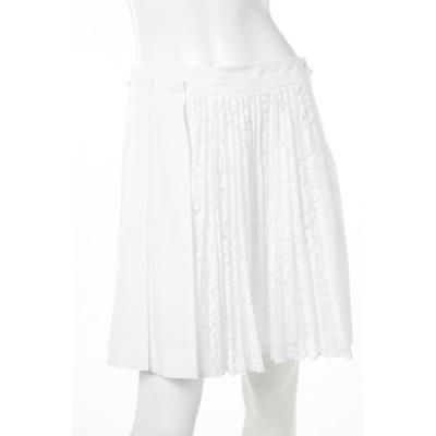 2017年春夏新作 ヌメロヴェントゥーノ N°21 スカート プリーツスカート レディース C091 0696 ホワイト 2017SS_SALE