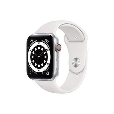 Apple Watch Series 6 GPS+Cellularモデル 40mm シルバーアルミニウムケースとホワイトスポーツバンド レギュラー M06M3J/A