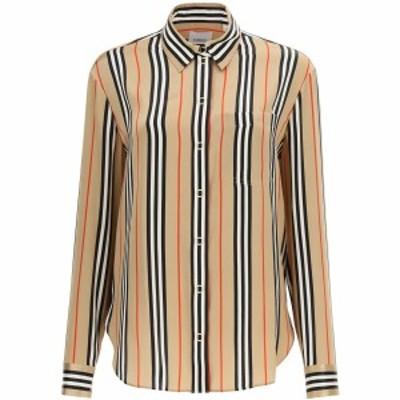 BURBERRY/バーバリー Mixed colours Burberry striped silk shirt レディース 春夏2021 8011074 ik