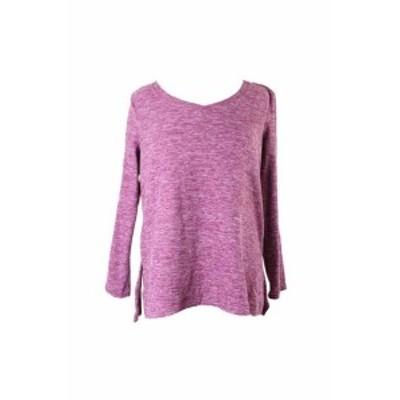 ファッション トップス Style & Co Petite Magenta Space-Dye Sweater PM