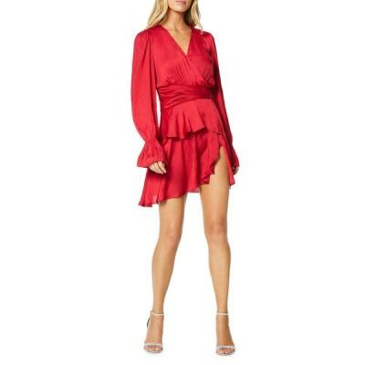 レイミー ブルック レディース ワンピース トップス Roman Long-Sleeve Tiered Flounce Dress