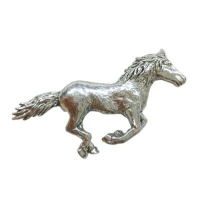 ピューター製 ピンバッジ ラペルピン ランニングホース 馬 英国 A.E.Williams