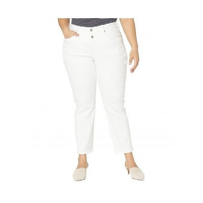NYDJ Plus Size エヌワイディージェー レディース 女性用 ファッション ジーンズ デニム Plus Size Sheri Ankle Jeans with Mock Fly in Optic White - Optic..