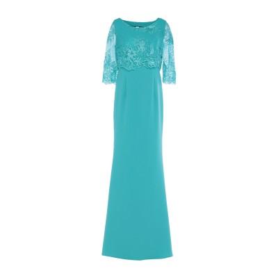 ATELIER NICOLA D'ERRICO ロングワンピース&ドレス ターコイズブルー 42 ポリエステル 100% ロングワンピース&ドレス