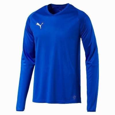 プーマ PMJ-703669 02 LIGA LS ゲームシャツ コア (02)エレクトリック ブルー レモネード/ホワイト メンズ・ユニセックス