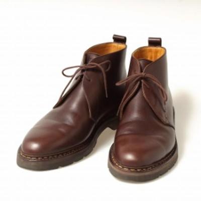 エシュン HESCHUNG 2アイレット チャッカブーツ ノルヴェイジャンウェルテッド製法 UK8.5 メンズ 靴 革靴 紳士靴 【中古】