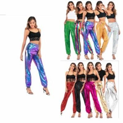 ボトムス レディースパンタロン ワイドパンツ ガウチョパンツ  10色ロック 舞台ダンス衣装 ジャズヒップホップダンス衣装二枚送料無料