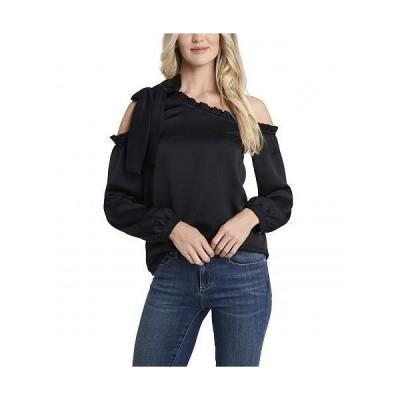 CeCe レディース 女性用 ファッション ブラウス One Shoulder Ruffled Bow Blouse - Rich Black