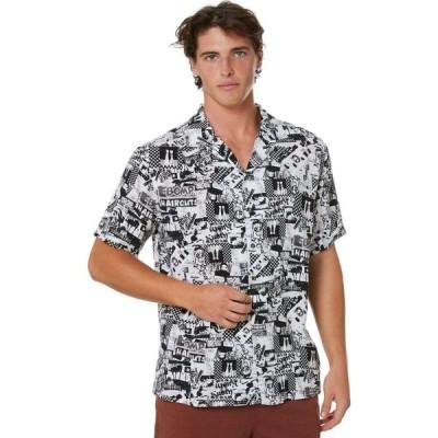 ラスティ Rusty メンズ 半袖シャツ トップス Flick Knife Short Sleeve Rayon Shirt White