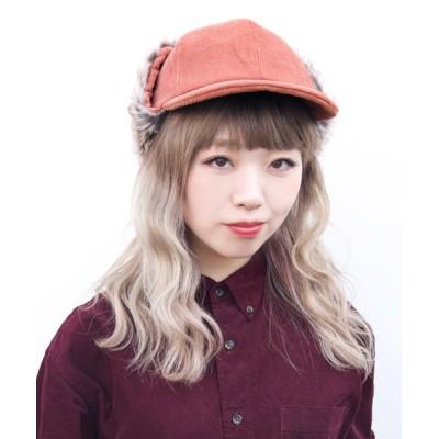 polcadot / イヤーカバー コーディロイCAP WOMEN 帽子 > キャップ