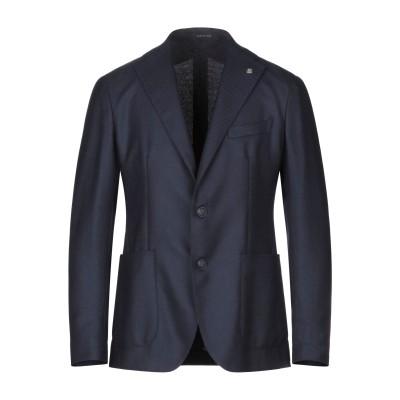 タリアトーレ TAGLIATORE テーラードジャケット ダークブルー 56 スーパー100 ウール 100% テーラードジャケット
