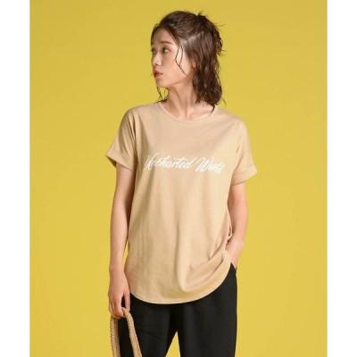 tシャツ Tシャツ 天竺ロゴゆるTシャツ