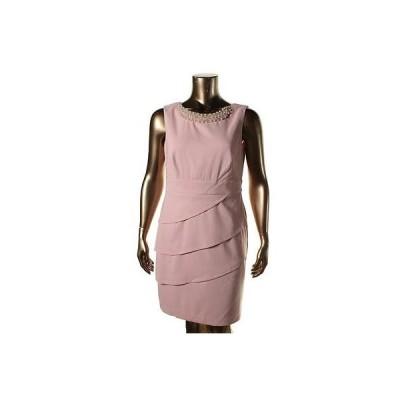 コネクティッドアパレル ドレス ワンピース Connected ウェア 0300 レディース ピンク Beaded Tieレッド Wear to Work ドレス 16 BHFO