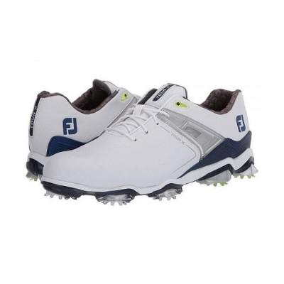 FootJoy フットジョイ メンズ 男性用 シューズ 靴 スニーカー 運動靴 Tour X - White/Navy/Lime Trim