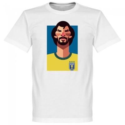 ブラジル代表 ソクラテス Tシャツ SOCCER プレイメーカー ホワイト