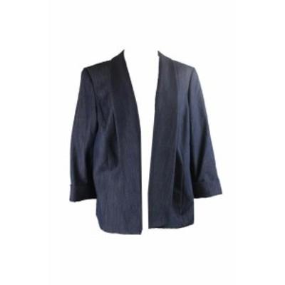 Blazer ブレザー ファッション 衣類 Tahari ASL Plus Size Blue Chambray Blazer 20W