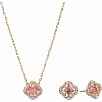 スワロフスキー Swarovski レディース ネックレス ジュエリー・アクセサリー Sparkling Dance Clover Set CZ Fancy Morganite/Pink