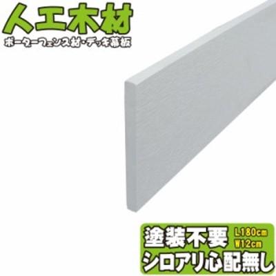 アイウッド人工木材12 ホワイト◇ L1800mm×W120mm×D11mm ボーダーフェンス用板材 デッキ幕板 DIY部材