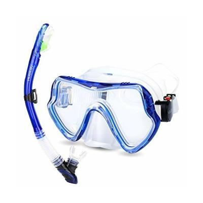 VILISUN シュノーケルセット 2点セット シュノーケリング スノーケルセット マスク ダイビングマスク 呼吸用パ