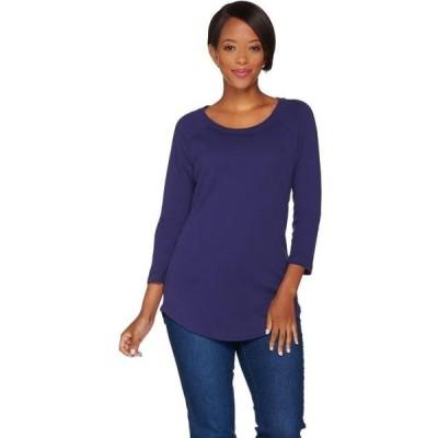 レディース スポーツリーグ フットボール Isaac Mizrahi Essentials 3/4 Slv Curved Hem Tunic Women's A279015 Tシャツ