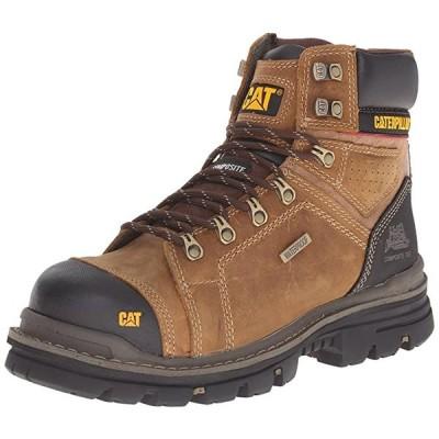 Caterpillar メンズ Hauler 6 インチ 防水 Comp Toe Work ブーツ, ダーク ベージュ, 9 M US(海外取寄せ品)