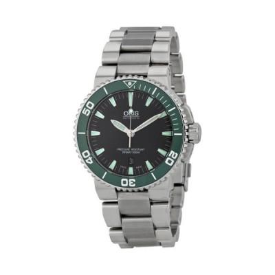 オリス Aquis デイト オートマチック ブラック ダイヤル ステンレス スチール メンズ 腕時計 733-7653-4137MB