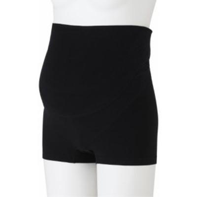 犬印本舗 検診便利パンツ妊婦帯 L ブラック 綿 HB8367