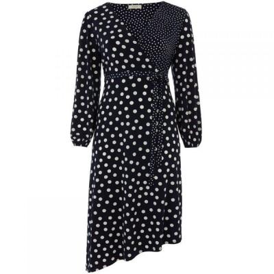 オアシス Oasis レディース ワンピース ミドル丈 ワンピース・ドレス Curve Patch Spot Midi Dress* Blue Multi