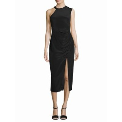 ニコールミラー レディース ワンピース Silk Ruched Sheath Dress