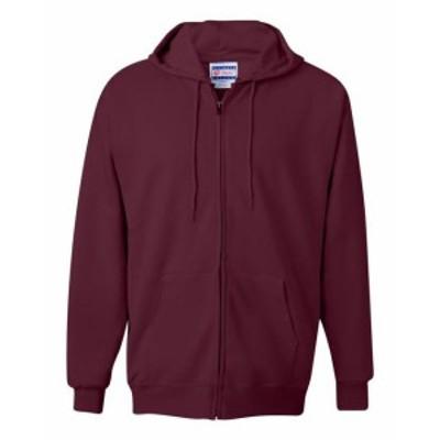 Hanes  ファッション トップス Hanes Mens 9.7 oz. Cotton 90/10 Full Zip Hood F280 S-3XL