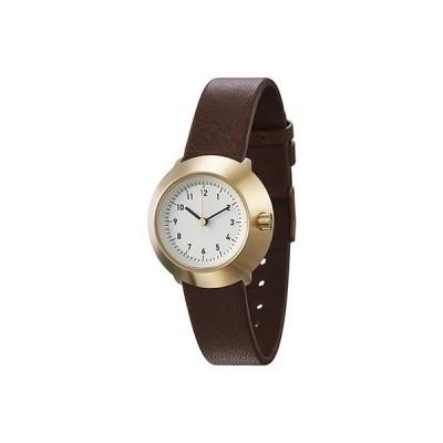ノーマル FUJI F03-L15BR 腕時計 レディース アイボリー ブラウン ゴールド  女性 normal timepieces アナログ 時計