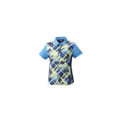 Nittaku/ニッタク  卓球アパレル FURACHECKS SHIRT(フラチェックスシャツ)ゲームシャツ(レディース)/S/ブルー