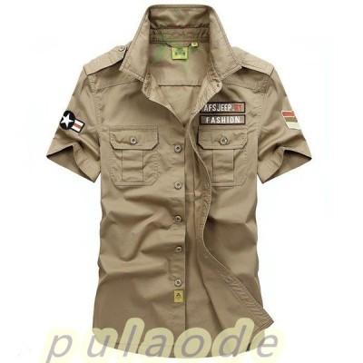シャツ メンズ カジュアルシャツ メンズ 半袖 無地 トップス アウトドア 通勤 薄て シャツ 大きいサイズ アメカジ 2021春夏新作
