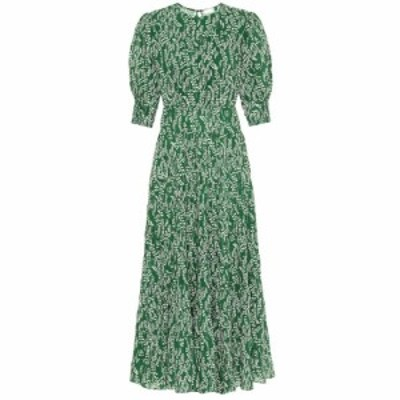 リキソ Rixo レディース ワンピース マキシ丈 ワンピース・ドレス Kristen cotton-blend maxi dress Tree Roots Green