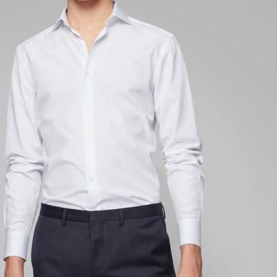 ボス メンズ ファッション Formal shirt - white