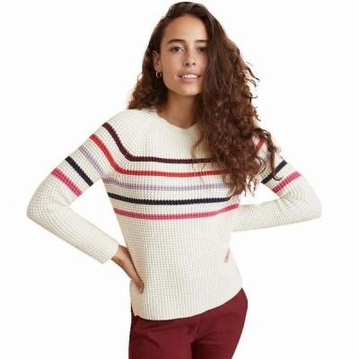 (取寄)マリンレイヤー レディース デラニー ストライプ トレーナー プルオーバー Marine Layer Women Delaney StripeSweatshirt Pullover Cream/Multi 送料無料