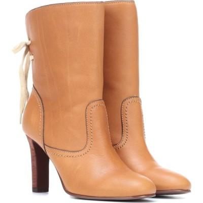 クロエ See By Chloe レディース ブーツ ショートブーツ シューズ・靴 lara leather ankle boots Tan