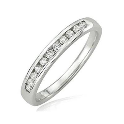 Dazzlingrock Collection 0.20 Carat (ctw) 14K Round Diamond Anniversary Wedd