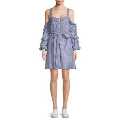 アレクシアアドモール レディース ワンピース Striped Cold-Shoulder Dress
