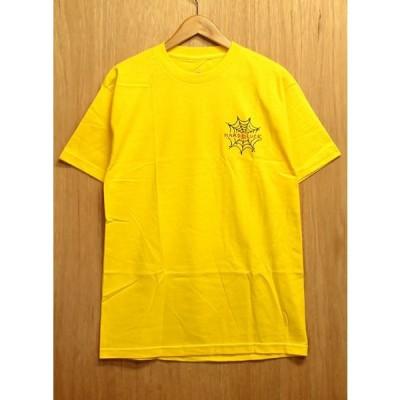 HARD LUCK (ハードラック,アンディーロイ,Tシャツ) ANDY ROY SPIDERWEB S/S TEE yellow