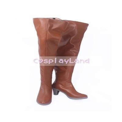 高品質 高級 オーダーメイド ブーツ 靴 ヴァイオレット・エヴァーガーデン 風 Violet Evergarden Cattle