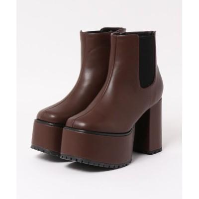 Mafmof / Mafmof(マフモフ) サイドゴア 厚底ブーツ WOMEN シューズ > ブーツ