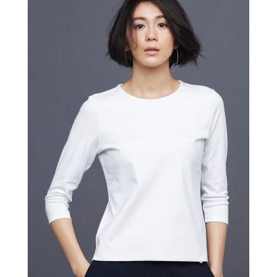 ドゥクラッセ DoCLASSE ドゥクラッセTシャツ・クルーネック7分袖 (ホワイト)