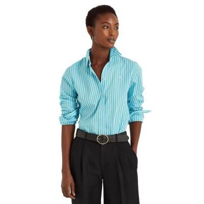ラルフローレン レディース シャツ トップス Striped Cotton Buttoned Top