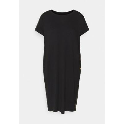 バブアー ワンピース レディース トップス GRID DRESS - Jersey dress - black