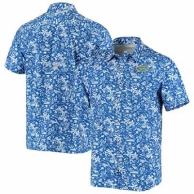 """メンズ カジュアルシャツ """"Florida Gators"""" Columbia Super Slack Tide Button-Up Shirt - Royal"""